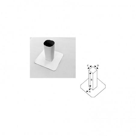 Enveloppe de tube carré en PVC/TPO