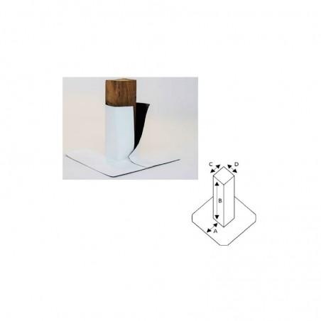 Enveloppe ouverte de tube carré en PVC/TPO