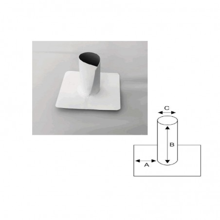 Enveloppe ouverte en PVC/TPO pour tube cylindrique