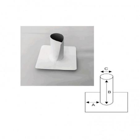 Enveloppe ouverte en PVC/TPO pour tube cylindrique